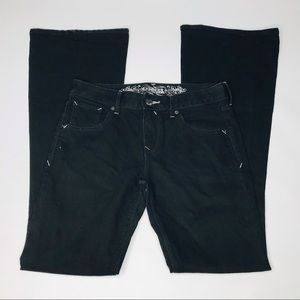 """Express Women's Mid Flair Black Jeans """"2"""""""